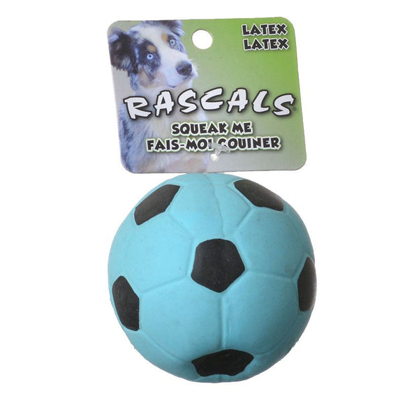 Rascals Latex Soccer Ball for Dogs - Blue (83067 R BLLDOG)