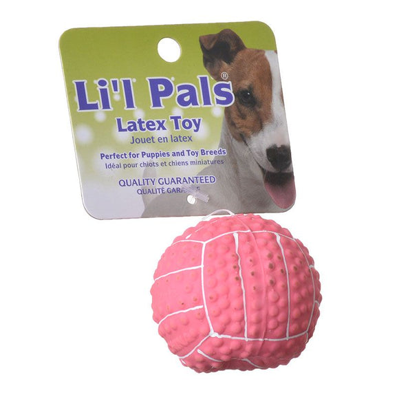 Lil Pals Latex Mini Volleyball for Dogs - Pink (83206 PNK)