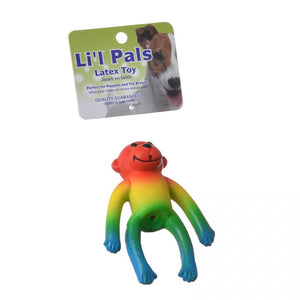 Lil Pals Latex Monkey Dog Toy - Assorted Colors (83208 MUL)