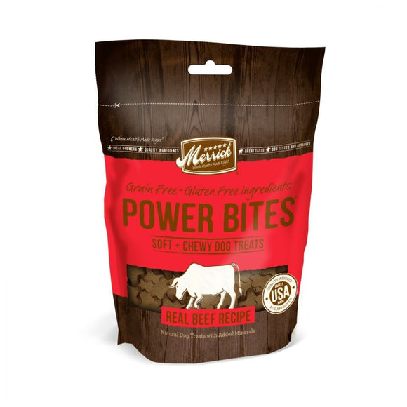 Merrick Power Bites Soft & Chewy Dog Treats - Real Texas Beef Recipe (78513)