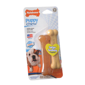 Nylabone Puppy Chew Petite Twin Pack - Chicken & Peanut Butter Nylon Chews (NPP101TPP)