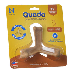 N-Bone Quado Interactive Dog Treat - Peanut Flavor (115011)