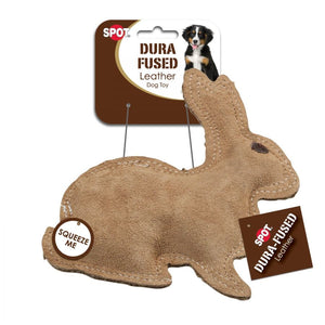 Spot Dura-Fused Leather Rabbit Dog Toy (4205)
