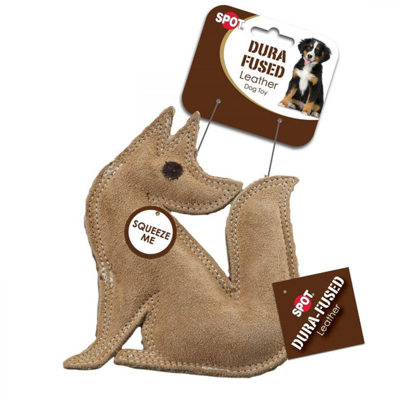 Spot Dura-Fused Leather Fox Dog Toy (4208)