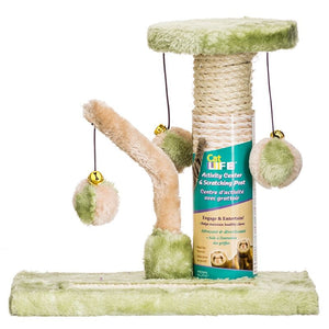 Penn Plax Cat Life Kitten Activity Center - Sisal Scratching Pad & Tower (CATF23)