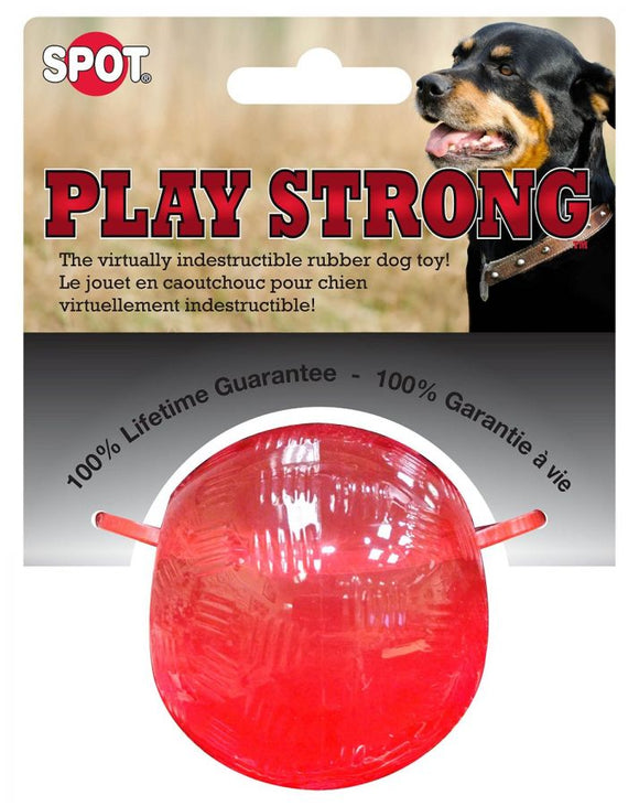 Spot Play Strong Rubber Ball Dog Toy - Red (54000)
