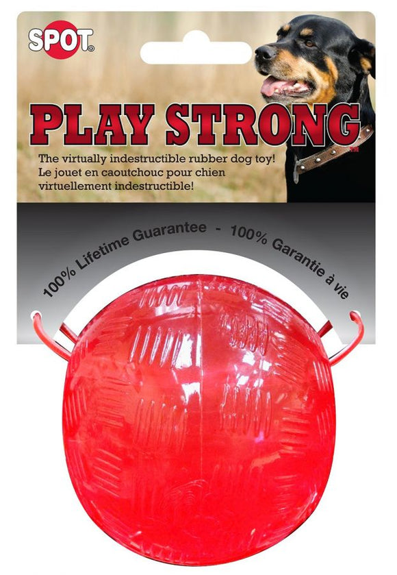 Spot Play Strong Rubber Ball Dog Toy - Red (54002)