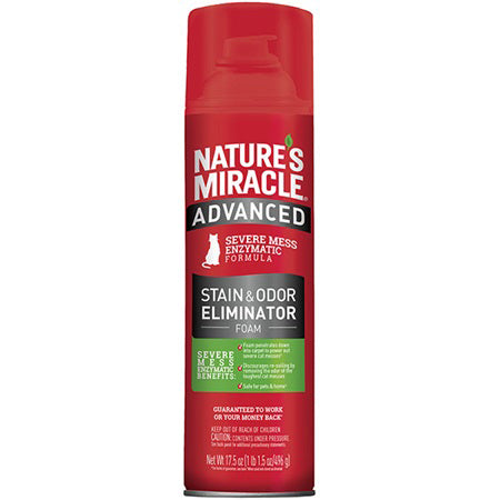 Nature's Miracle Advanced Stain & Odor Eliminator - Foam for Cat 17.5 Oz