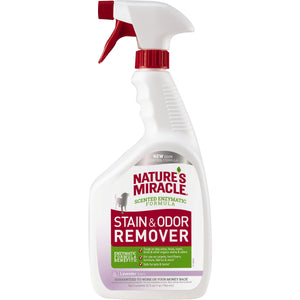 Nature's Miracle Lavender Scent Stain & Odor Remover Spray for Dog 32 Oz