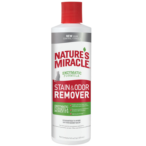 Nature's Miracle Enzymatic Formula Stain & Odor Remover Accushot for Cat 16 Oz Pour