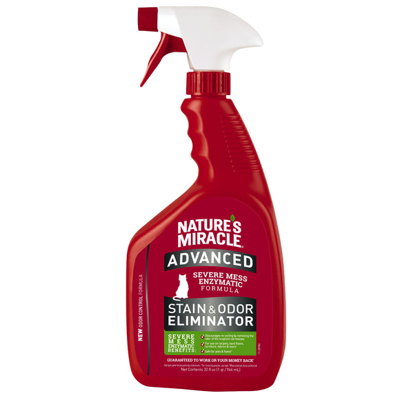 Nature's Miracle Advanced Stain & Odor Eliminator Spray for Cat 32 Oz