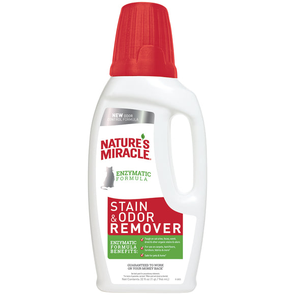 Nature's Miracle Stain & Odor Remover Pour for Cat 32 Oz