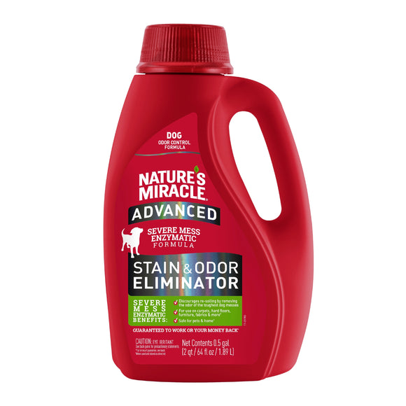 Nature's Miracle Advanced Stain & Odor Eliminator Pour for Dog 64 Oz