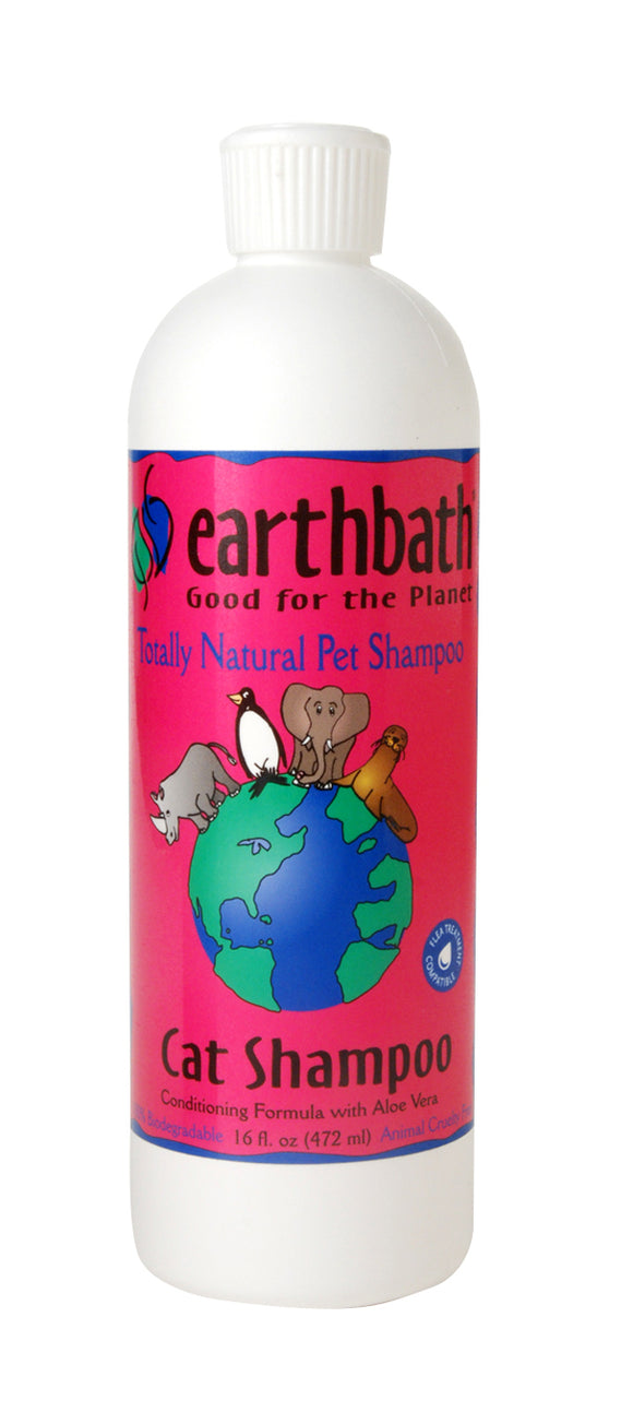 Earthbath Light Wild Cherry 2-in-1 Conditioning Cat Shampoo 16 Oz
