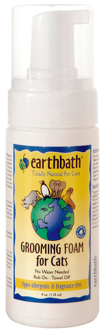 Earthbath Fragrance Free Hypo-Allergenic Grooming Foam for Cat 4 Oz