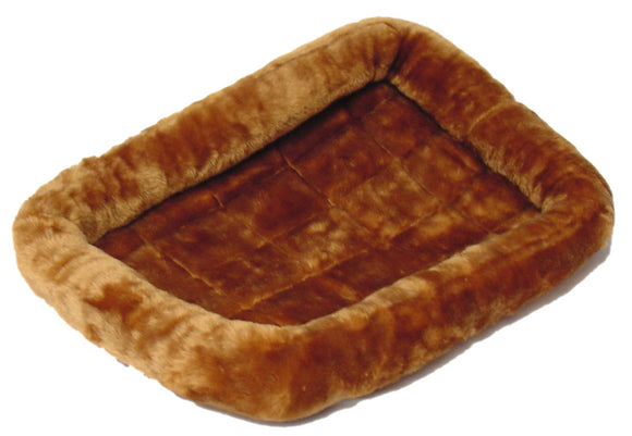 QuietTime Deluxe Cinnamon Bolster Pet Bed 30 Inch