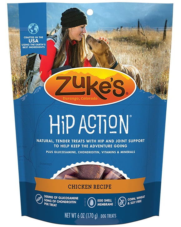 Zuke's Hip Action Chicken Recipe Dog Treat 6 Oz