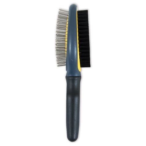 JW Gripsoft Double Sided Brush Gray/Yellow Color One Size