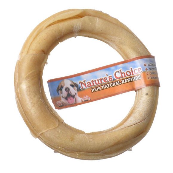 Loving Pets Nature's Choice Pressed Rawhide Donut (4720)