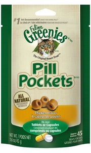 Greenies Pill Pockets Chicken Flavor Cat Treats (2141)