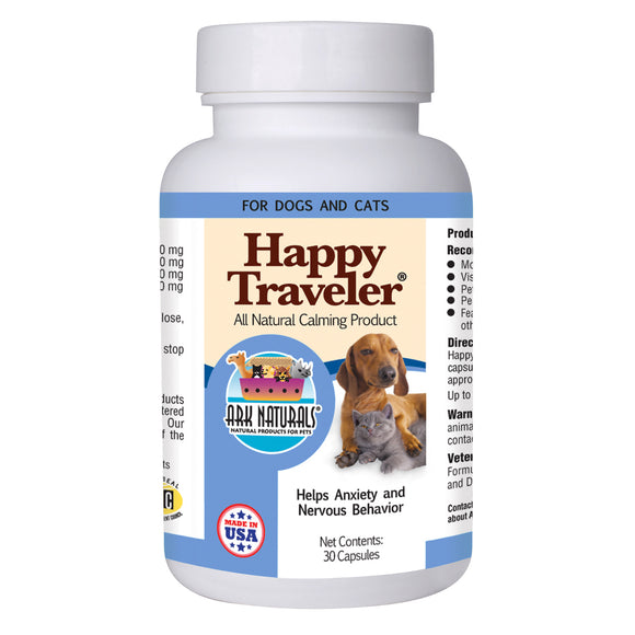 Ark Naturals 500 Mg Happy Traveler Cat And Dog Capsules 30 Count