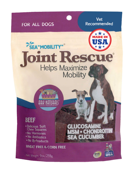 Ark Naturals Sea Mobility Beef Joint Rescue Jerky Dog Treat 9 Oz