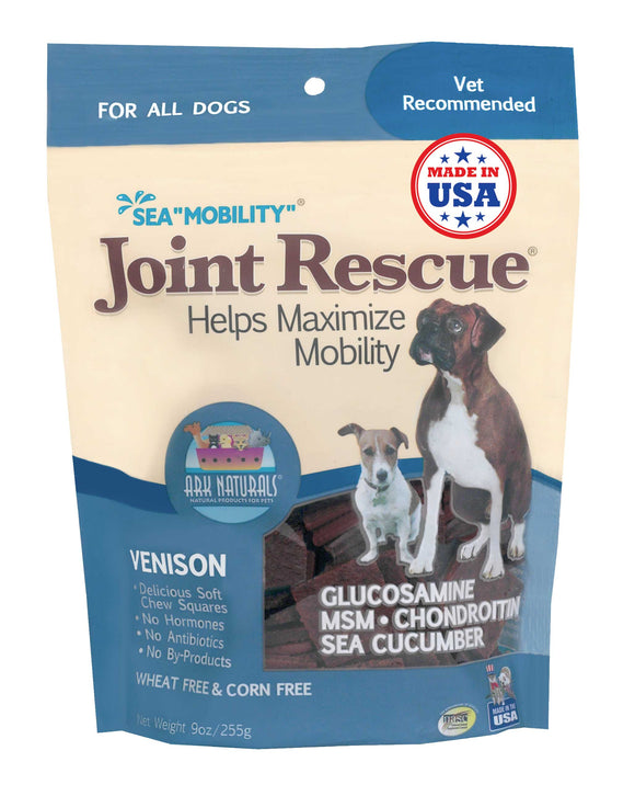 Ark Naturals Sea Mobility Venison Joint Rescue Jerky Dog Treat 9 Oz