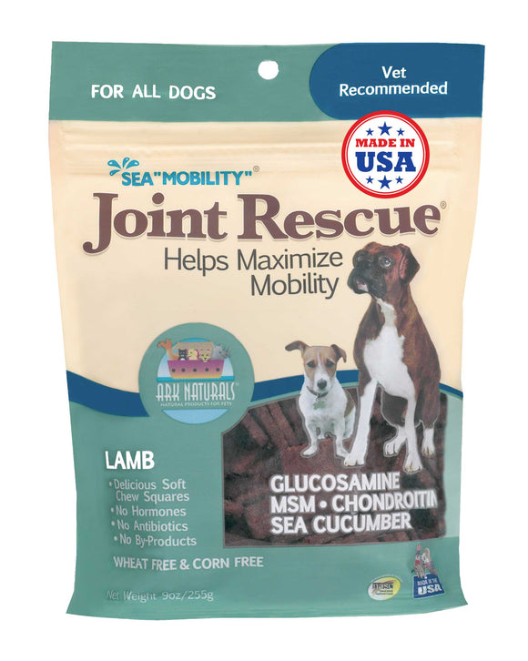 Ark Naturals Sea Mobility Lamb Joint Rescue Jerky Dog Treat 9 Oz