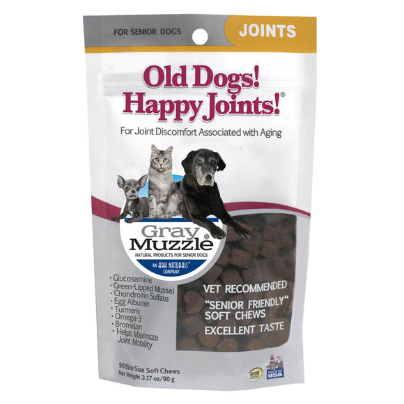 Ark Naturals Gray Muzzle Old Dogs! Happy Joints! Cat And Dog Chewy Treat 90 Count