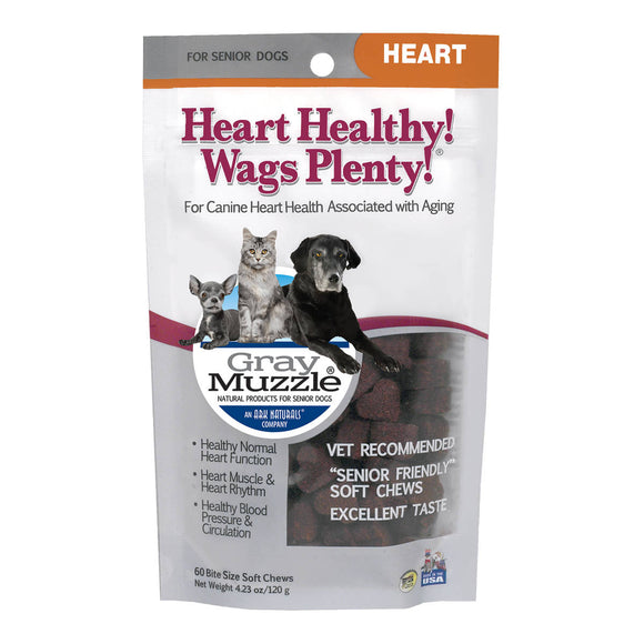 Ark Naturals Gray Muzzle, Heart Healthy! Wags Plenty!, Heart for Senior Dog 60 Count