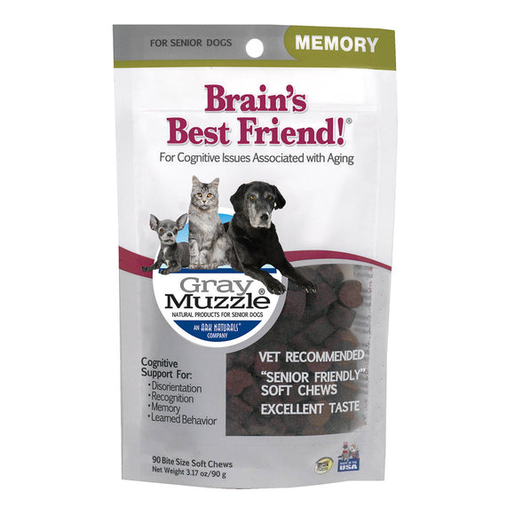 Ark Naturals Gray Muzzle BrainS Best Friend! Cat And Dog Chewy Treat 90 Count