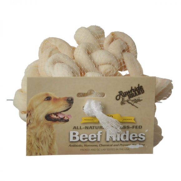 Rawhide Brand Eco Friendly Beef Hide Natural Safety-Knot Bones (45099)
