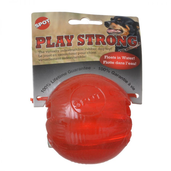Spot Play Strong Rubber Ball Dog Toy - Red (54001)