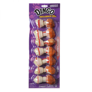 Dingo Indulgence Cheese Flavor Meat & Rawhide Chews (No China Sourced Ingredients) (DN-10009)