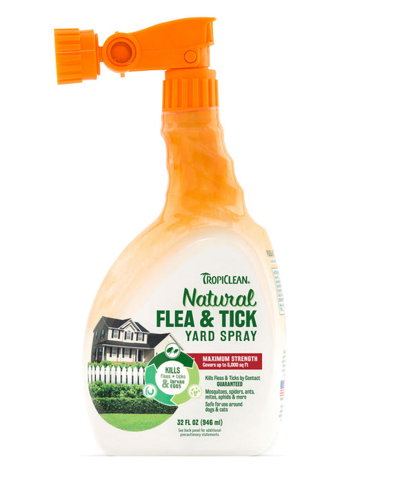 Tropiclean Natural Flea & Tick Yard Spray 32 Oz