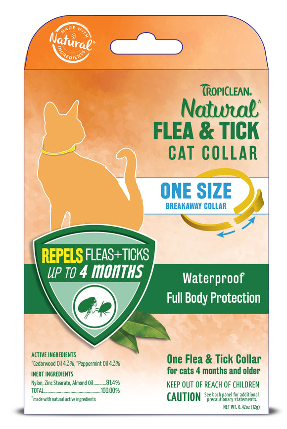 Tropiclean Natural Flea & Tick Collar for Cat