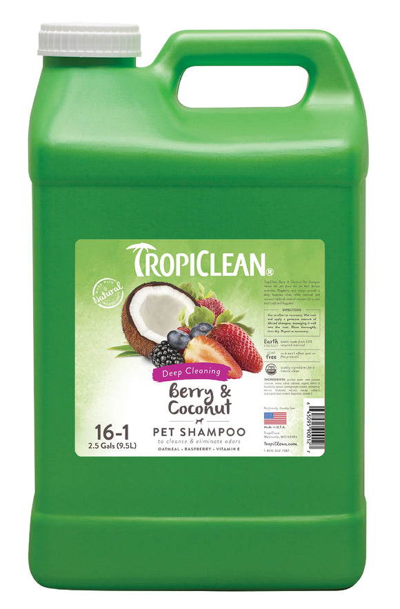 Tropiclean Deep Cleaning Waterless Dog Shampoo 2.5 Gal