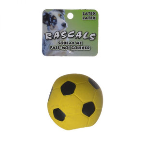 Rascals Latex Soccer Ball for Dogs - Yellow (83067 R YLWDOG)