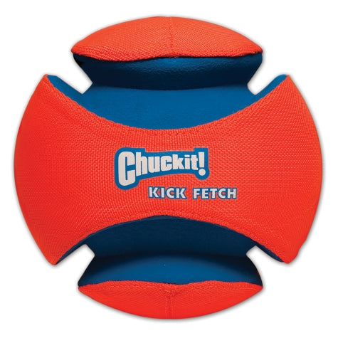 Chuckit! Kick Fetch Dog Toy Orange/Blue Color Small