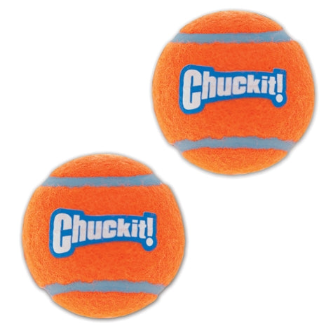 Chuckit! Tennis Ball Dog Toy Orange/Blue Color 4 Pack Medium