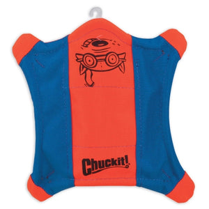 Chuckit! Flying Squirrel Dog Toy Orange/Blue Color Large