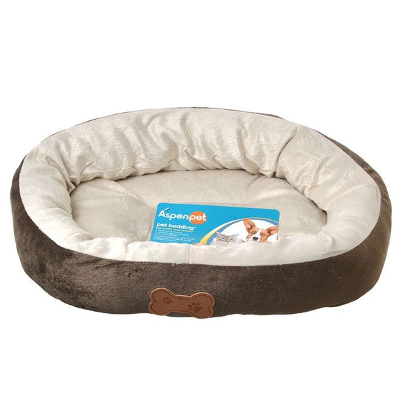 Aspen Pet Oval Nesting Pet Bed - Brown (26944)