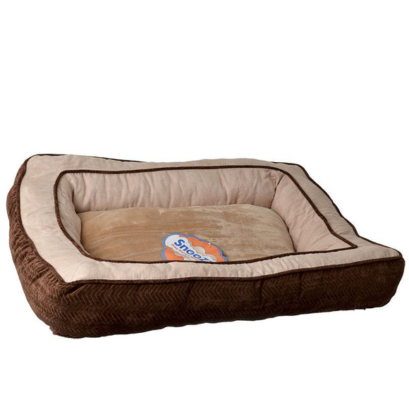 Precision Pet Snoozzy Chevron Chenille Gusset Dog Bed - Chocolate (7075812)