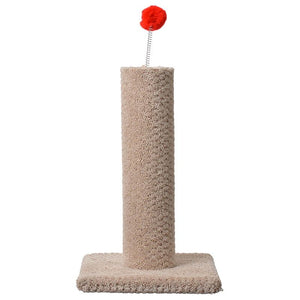Classy Kitty Carpeted Cat Post with Spring Toy (49001)