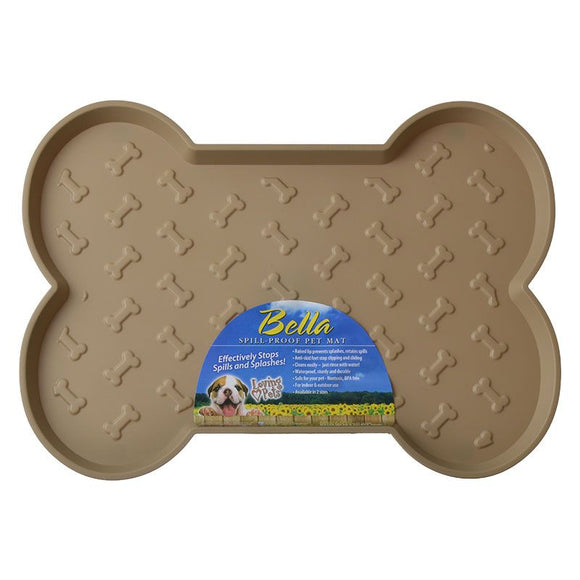 Loving Pets Bella Spill-Proof Dog Mat - Tan (7350)