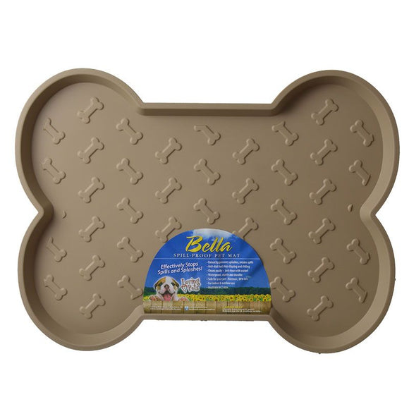 Loving Pets Bella Spill-Proof Dog Mat - Tan (7352)