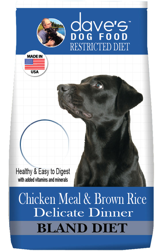 Dave's Restricted Diet Chicken Meal & Brown Rice Delicate Dinner Dry Dog Food 4 Lbs