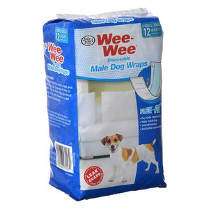 Four Paws Wee Wee Disposable Male Dog Wraps (100523613)