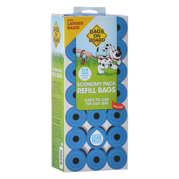 Bags on Board Waste Pick Up Refill Bags - Blue (3203940040)