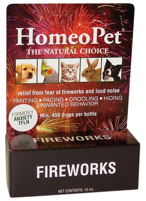 Homeopet Fireworks Homeopathic Claming Aid for Pets 15 Ml